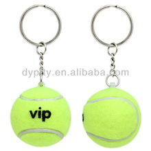 Promotional Rubber tennis ball keychain