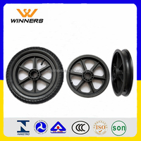 High quality High Performance Strong Gardening Tool 16 Inch Semi Pneumatic Wheels