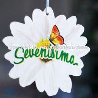 Flower shape Paper car air freshener for high quality product