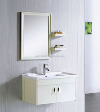 Classic hot sell shelf and mirror hotel American style acrylic bathroom cabinet
