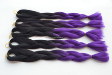 two tone dip dye omber color jumbo braid hair ombre synthetic braiding hair