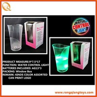 liquid sensor colorful flashing cup colored plastic cups SP3669138-18C