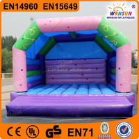 Durable 0.55mm PVC bounce house moonwalk jumper