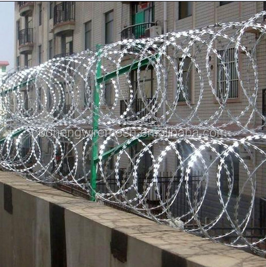 Stainless steel Razor barbed wire mesh