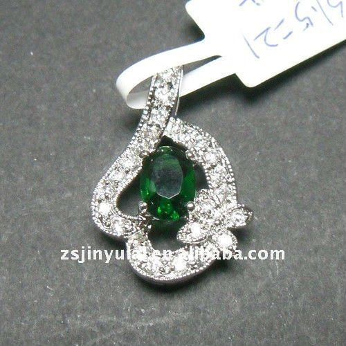 best design silver jewelry of fashion emerald pendant