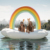 Custom inflatable rainbow cloud floating daybed