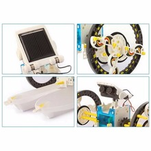 14 in 1 solar robot kit bulk mini plastic toy