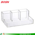 Clear simple new style 4-section acrylic makeup organizer