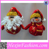 2PCS Red and gold Christmas Snowmen Together