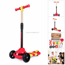 Fascol Portable Adjustable PU Flashing Wheel DIY Splicing Stitching Cheap Kids Kick Scooter Child Scooter Baby Scooter Red