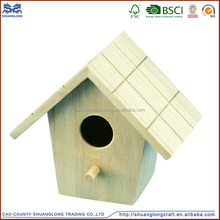 2016 Natural Wooden bird nest,decorated wooden bird house