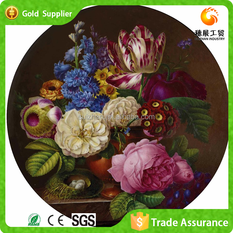 Oil painting in the style of different kinds of flowers diamond painted by hand