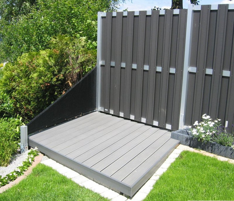 basic fence netherland market wpc wooden garden fencing composite cheap fence