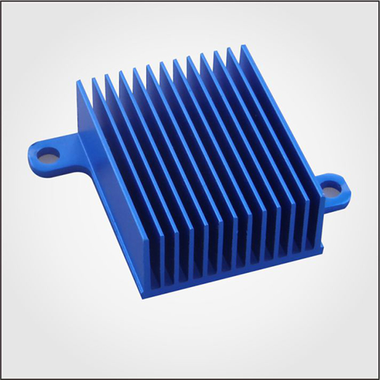 Low price 6000 series anodized extruded aluminum extrusion fins heat sink