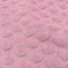 Super soft cuddle heart embossed minky fabric for baby