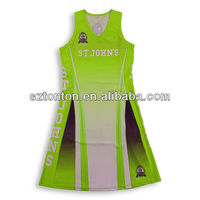 custom dye sublimation printing netball jersey
