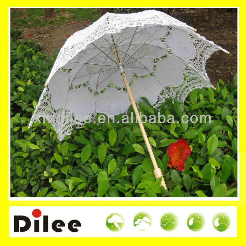 Cheap lace parasol wedding white umbrella