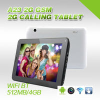 7inch low price phone call tablet pc 512MB ram 4GB Rom storeage wifi+bluetooth