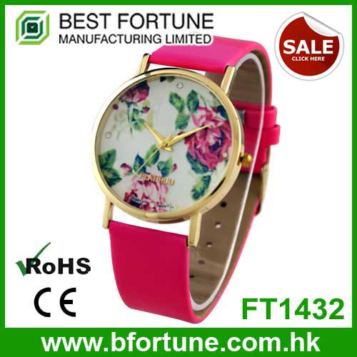FT1432 2015 best sell geneva flower watch/floral watch women watches wholesale