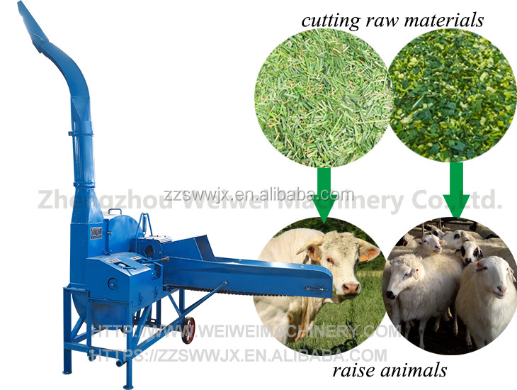 Zhengzhou weiwei factory supply direct selling chaff cutter machine for sale
