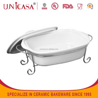 2015 Wholesale porcelain serving dishes with stand