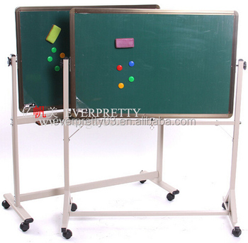 School Moving Bulletin Furniture Revolving Green Notice Board For Study
