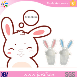 silicone baby fruit and food feeder pacifier nibbler for rabbit