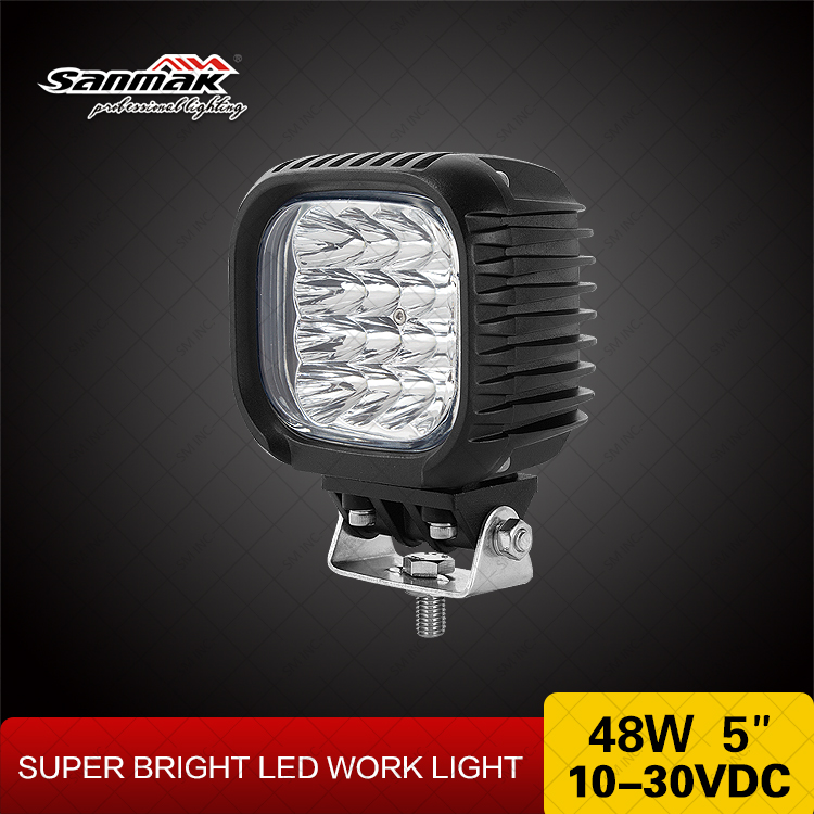 Sanmak professional lighting USA CREE Square 48W LED work Light for 4x4 off-road ATV mining motorcycle boat
