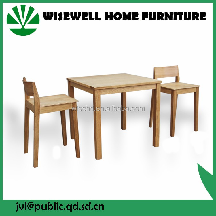 solid modern wooden dining table and 4 chairs furniture set W-T-0657