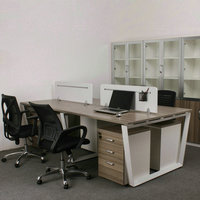 Latest Design Hot Selling Office Furniture 4 People Office Desk With Partition
