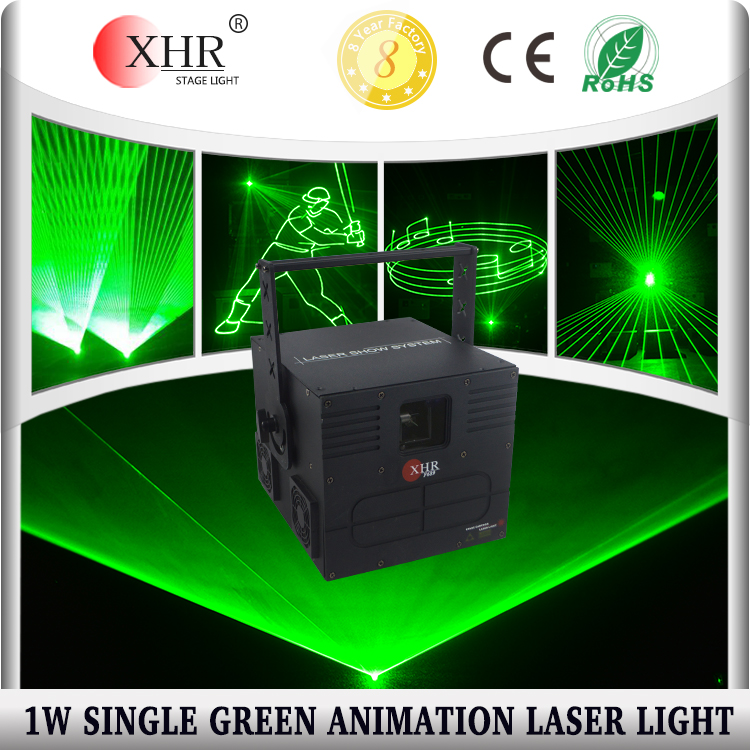 Green animation laser light show,1000mw dmx Mini laser disco dj stage lighting