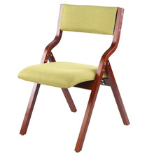 Contemporary Design Simple Style Bent Wood Folded Fabric Leather Dining Chair Home Furniture NO.AX8
