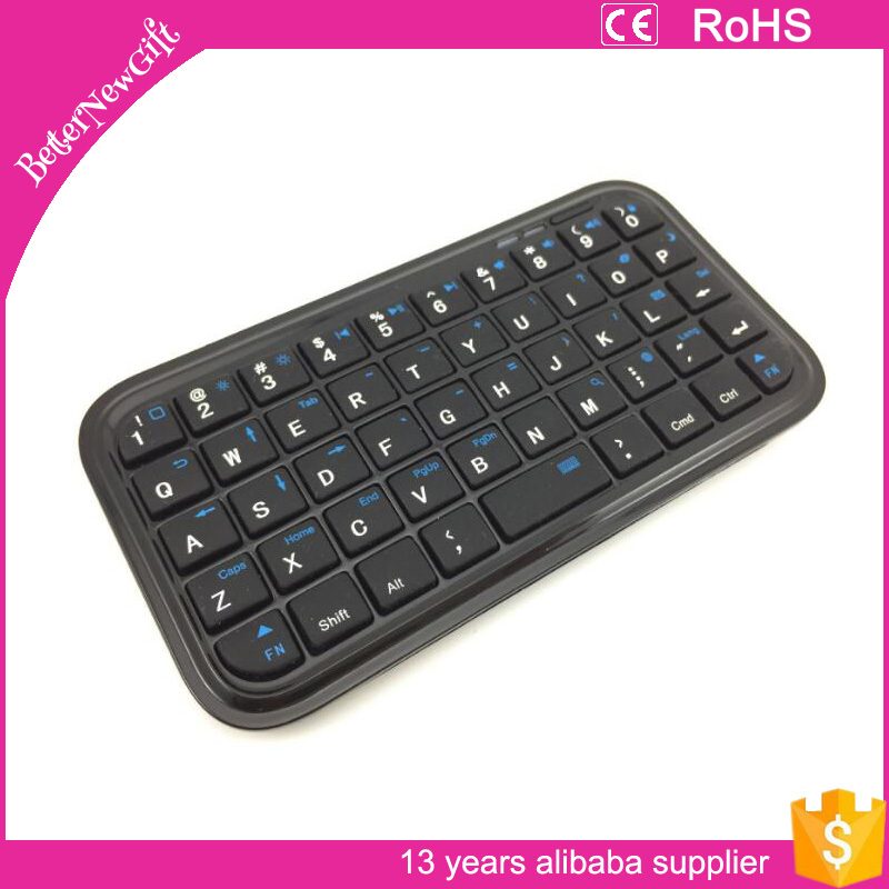 2016 hot selling Super Slim Mini Bluetooth Keyboard Black for iPad iPhone Smart Phone PC
