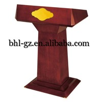 Guangzhou Wholesale hotel equipment suppliers hotel furniture manufacturers wooden table top podium church lecterns T13