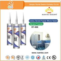 Factory price High adhesive Black/Transparent/White silicone sealant