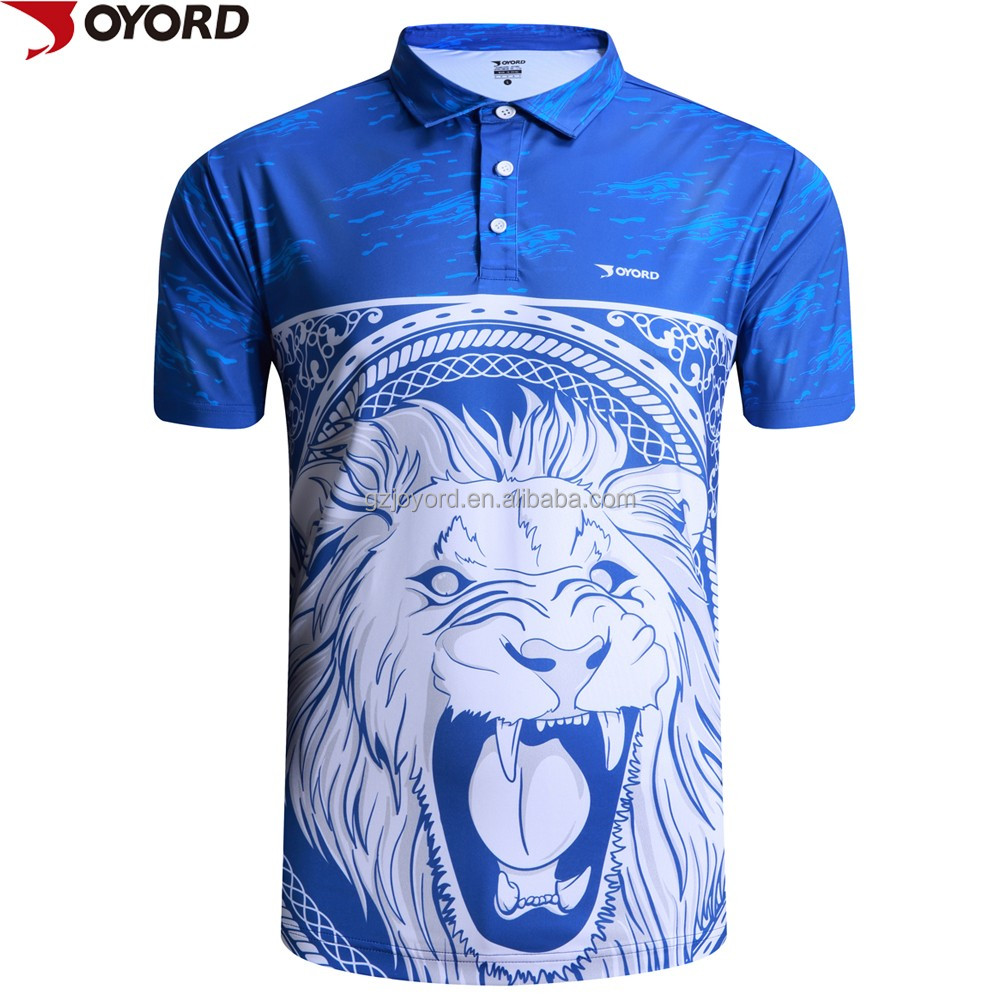 Sublimated quick dry golf polo t shirt printing for sale