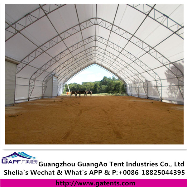 China supplier tensile membrane curved top tent for horse arena