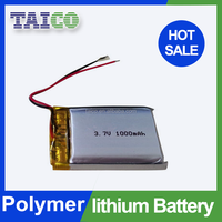 High capacity li-polymer 1000mah 3.7v rc battery