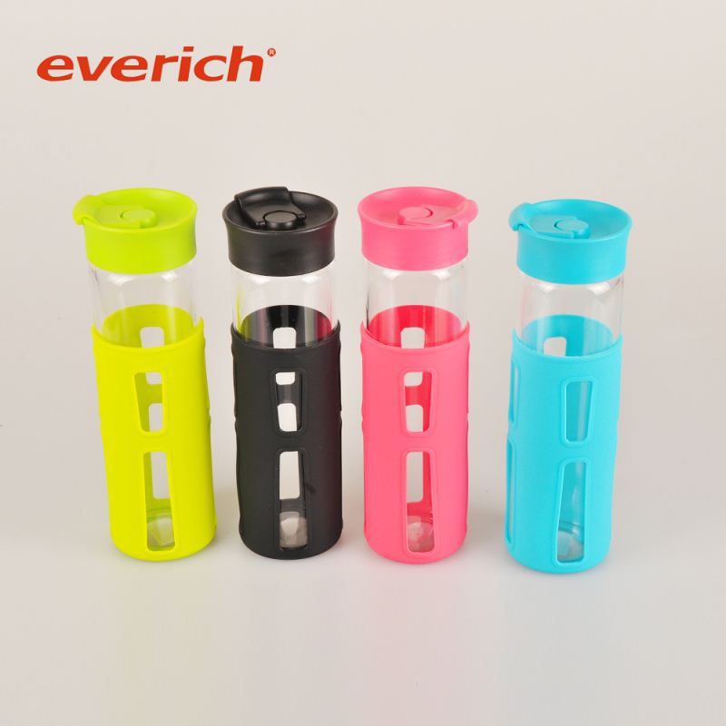 colorful recycle office water glass bottle