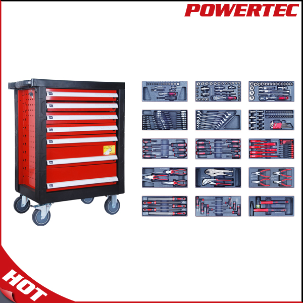 POWERTEC drawer tool cabinet tool trolley