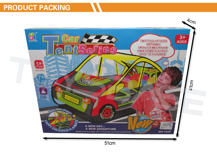 Children Play Set Car Hape Tent Foldable Teepee Play Tent