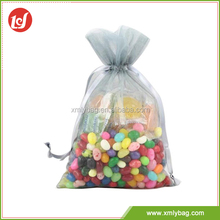 Best quality candy white organza mesh drawstring bag