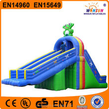 frog theme residential backyard inflatable swimming pool slide