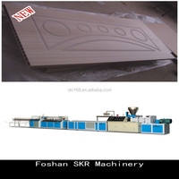 Foshan SKR machinery WPC hollow wood door production machine for PVC extrusion