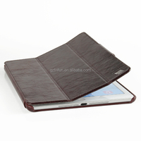 Book style hot selling brown computer leather case for ipad air 2