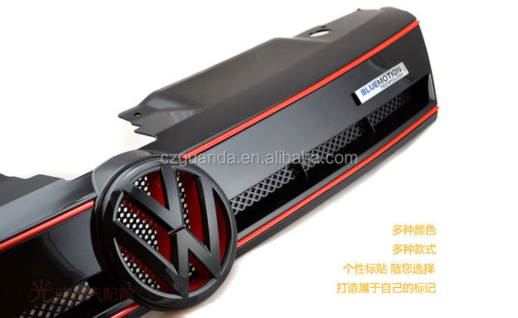 Blue Motion Front Mesh Grill Red For Volkswagen VW New Jetta MK6 Sagitar 2011 2012 2013