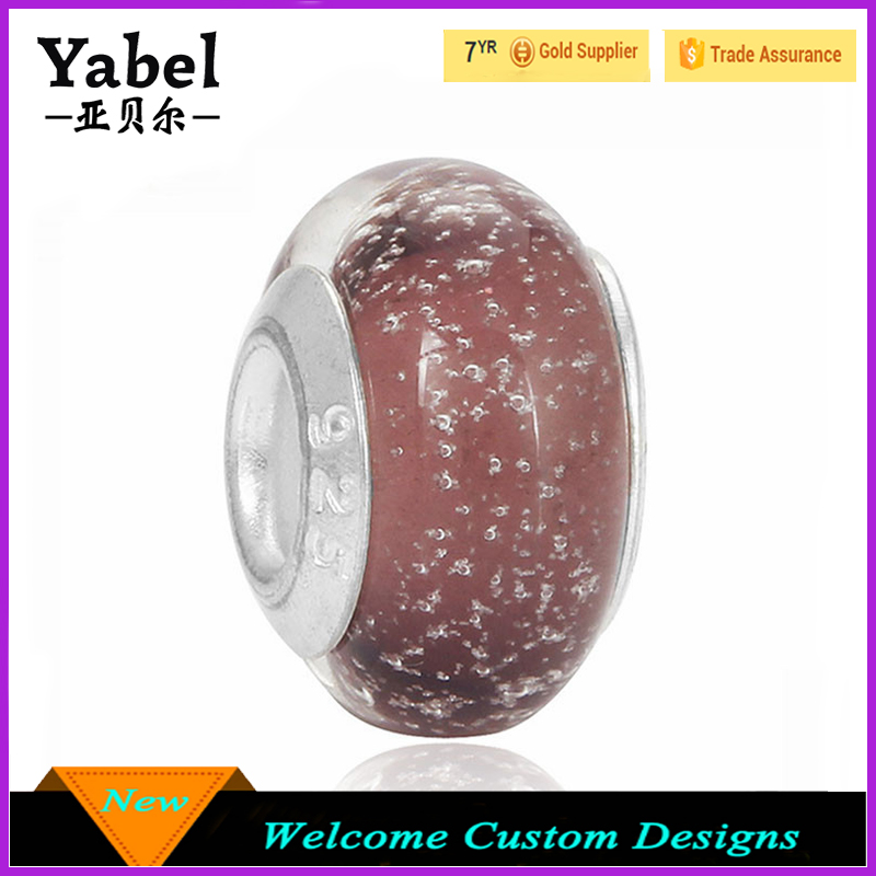 Aliexpress Hot Sale Purple Bubble Wholesaler Beads and Findings Glow in the Dark Glass Beads