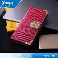 Veaqee wholesale custom flip cell phone crocodile leather case for iphone 6