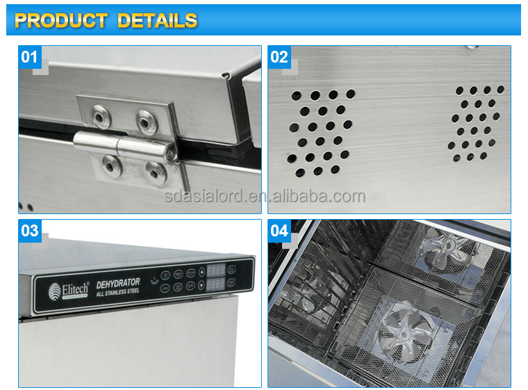 2015 Hot Type Household 3 layers 10 Trays Stainless Steel Food Dehydrator / Fruit Drying Machine With CE Certification