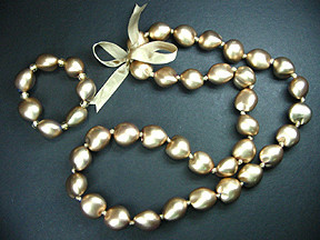 Gold Kukui Nut Lei for Wedding
